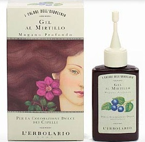 L'Erbolario Il Colore Gel Al Mirtillo Mogano Profondo Gel Tief Mahagonirot 70 ml